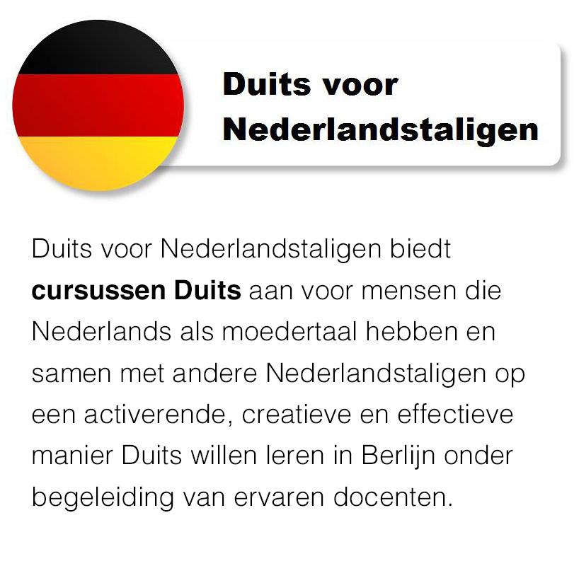 Duits voor Nederlandstaligen
