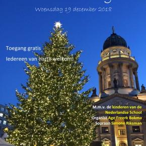 Nederlandstalige kerstzang op 19 december om 19 uur
