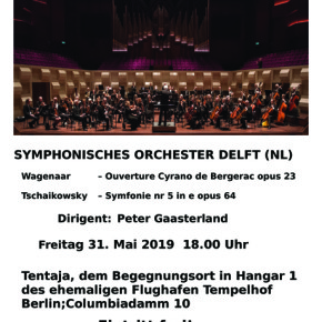 Concert Delfts Symfonie Orkest op voormalige luchthaven Tempelhof