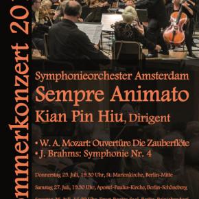 Orkest Sempre Animato Amsterdam bezoekt Berlijn op 25 juni