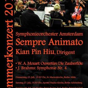 Symphonieorchester Amsterdam in Berlijn op 25, 27 en 28 juli